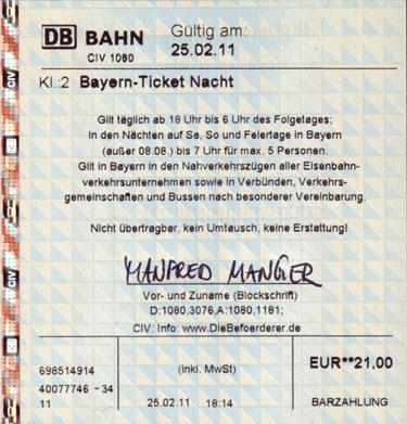 Bayernticket 5 personen | Zemské jízdenky: Objevit ve ...