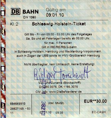 Holstein ticket schleswig Ticket information